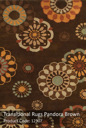 Brown transitional rug1