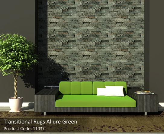 Green transitional-rug2